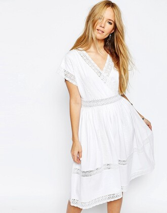 dress white lace dress white lace v neck summer dress