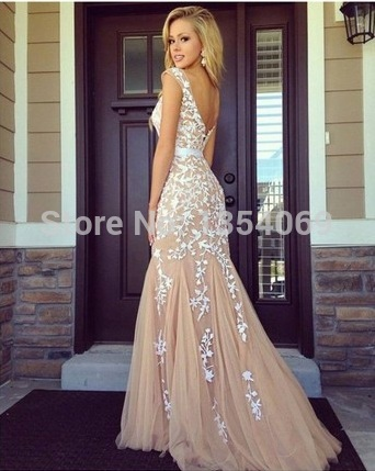 Aliexpress.com : buy sexy cap sleeves mermaid long evening gowns 2015 champange lace appliques celebrity dresses o neckline formal prom gown dyp173 from reliable gown store suppliers on roman holiday wedding dresses