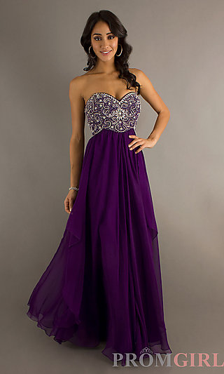 Beaded Prom Dresses, Dave and Johnny Beaded Prom Gowns- PromGirl