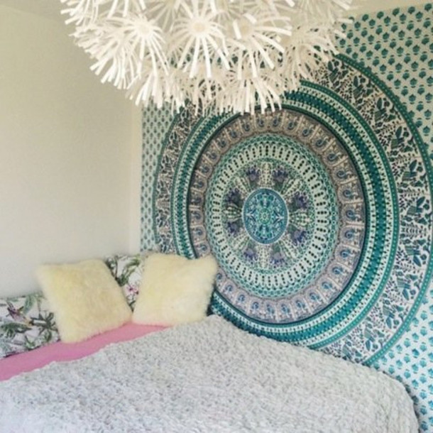 Home Accessory Queen Bedcover Bedcover Mandala Hippie Tapesty Wall Hanging  Medallion Tapestries Dorm Tapestry Dorm Room Part 81