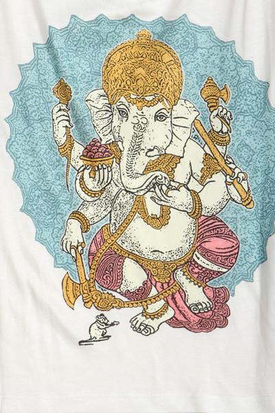 "Namaste ""truly madly deeply"" ganesha print tank top – glamzelle"