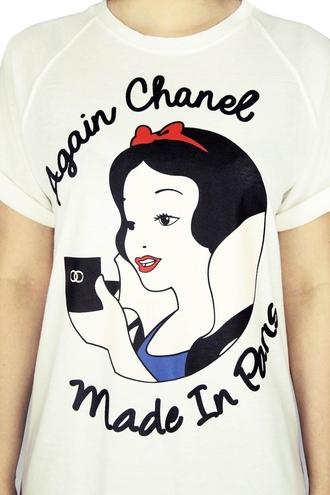 disney snow white t-shirt chanel logo chanel cosmetic disney tee