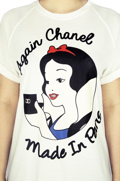 The Gallery For Coco Chanel Logo T Shirt
