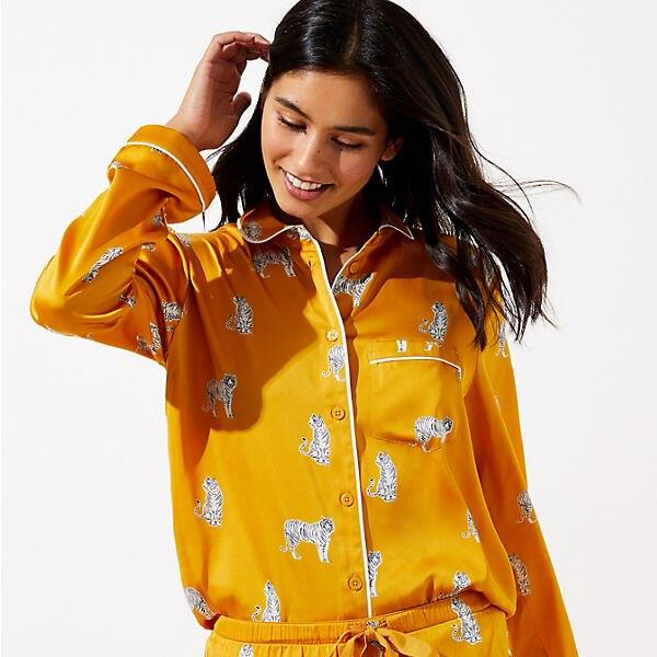 LOFT Petite Snow Tiger Pajama Set