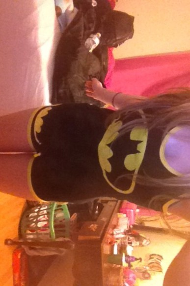 yellow shirt pajama pjs batman shorts black superhero cute spencer's