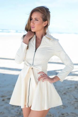 jacket bow girl fancy cute white pretty zip up