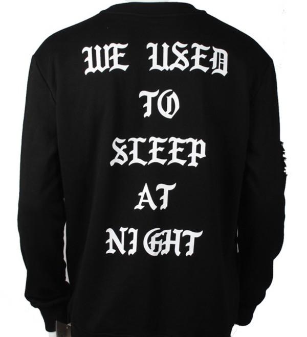 sweater crewneck sweater hoodie kanye west distressed clothing