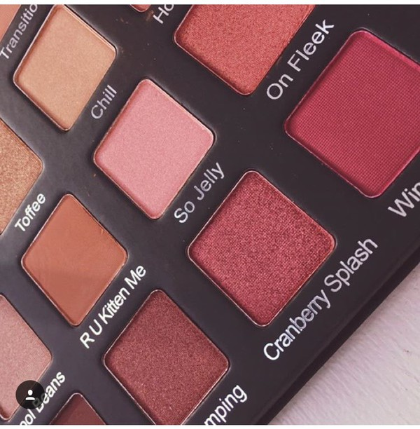 Make-up Colorful Eye Shadow Palette Red Matte Sparkle - Wheretoget