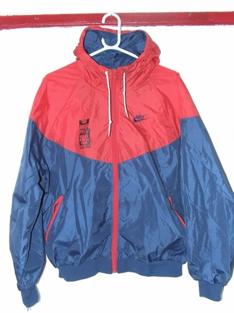 jacket vintage jacke vintage jackets vintage nike light jacket nike jacket nike vintage vintage vintage nike jacket red clothes clothing fashion style dope dope af dope shit streetwear streetstyle street street fashion street clothing streetfahion swag jacket swag swagger raincoat