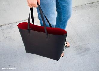 bag handbag black bag black red