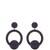Kate hoop-drop earrings