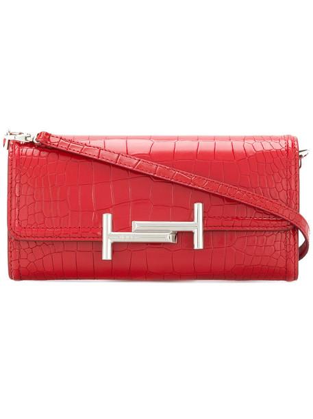 TOD'S women bag shoulder bag leather red