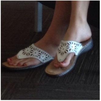 shoes wedge sandals sandals white black floral