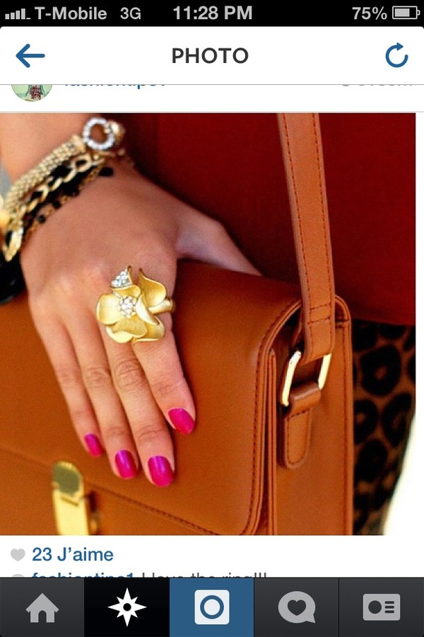 jewels gold bag