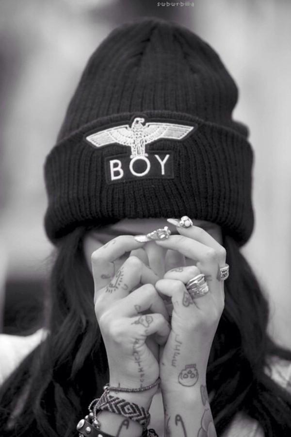 hat boy london beanie beanie black black beanie black and gold