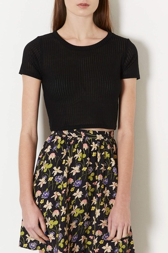 top topshop crop tops black crop top topshop black ripped crop