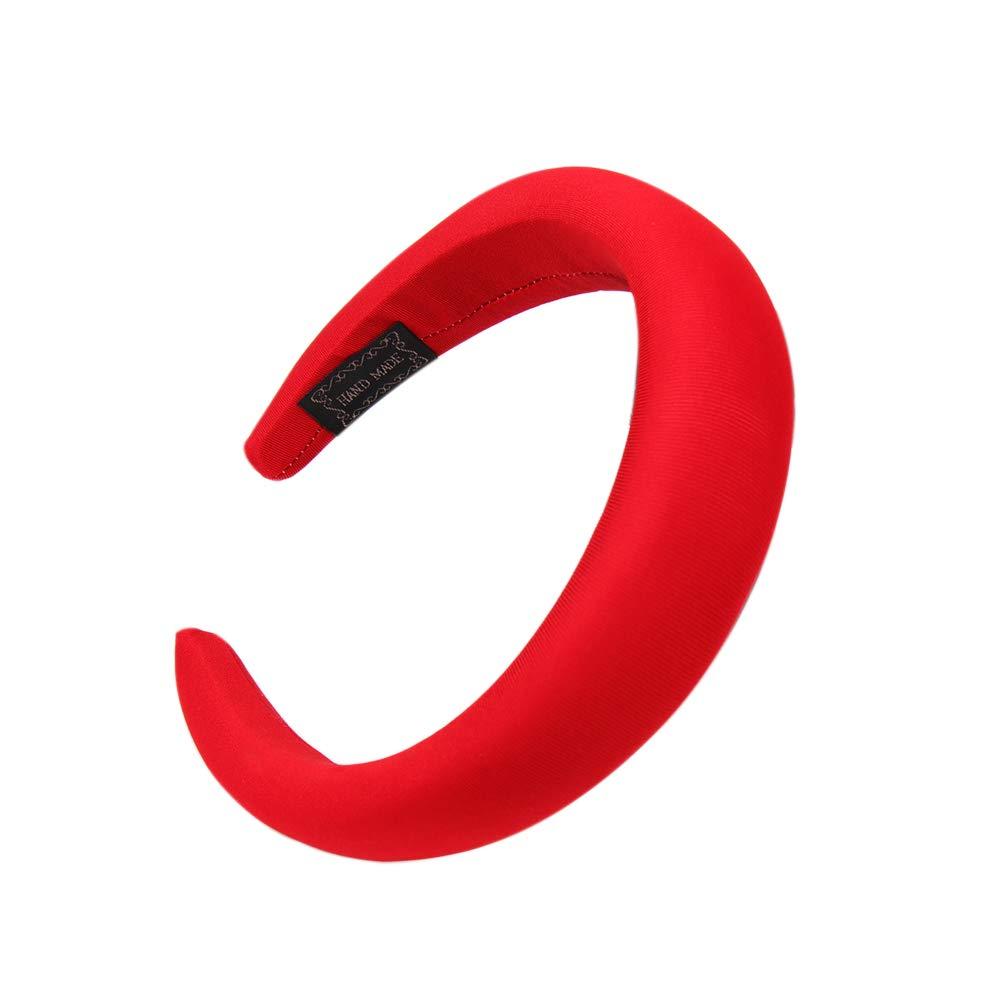 Amazon.com : New Trendy Silk Hair Headband Hair Thick Velvet Headbands Accessories For Women Girl Bohemian Headband Jewelry (red) : Beauty