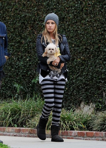 ashley tisdale fall outfits pants boots ugg boots