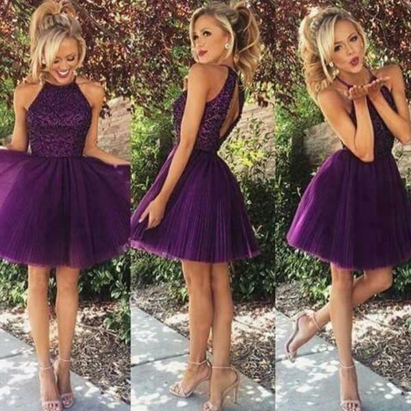 dress purple dress lilac dress back prom dress beautiful short dress