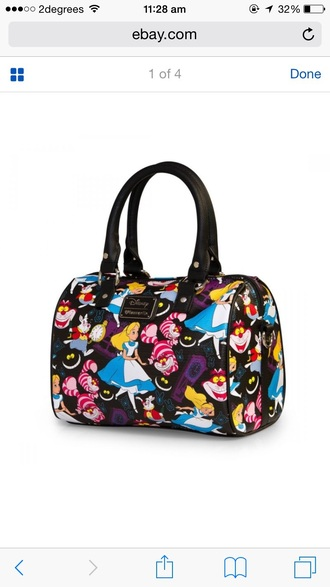 bag alice in wonderland handbag shoulder bag