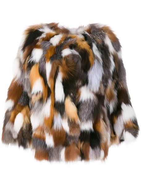 coat fur fox women