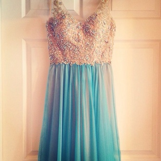 dress prom dress prom dress with straps blue blue prom dress evening dress sparkly dress sparkly prom dress formal event outfit elegant dress blue dress long prom dress long dress gold and blue blue and gold gold dress gold sequins gold prom dress