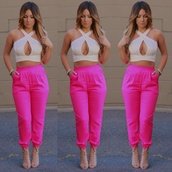 sweatpants,pants,pink