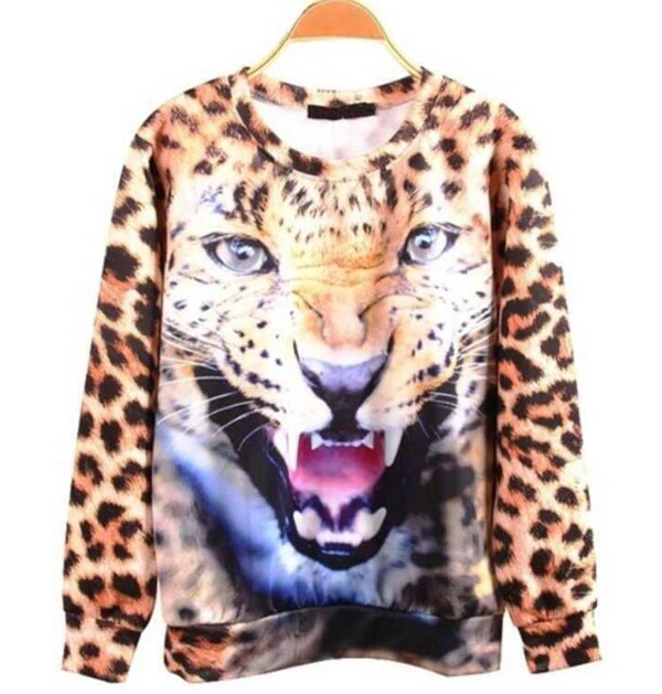 shirt leopard print leopard print blue
