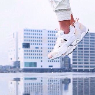 shoes white reebok white sneakers
