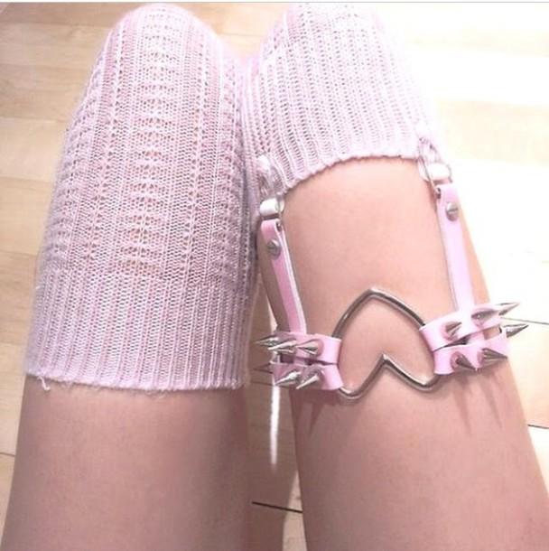 socks garter badass hot