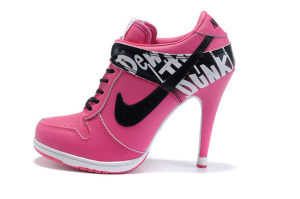 shoes high heels nike pink white or another color pink and black shoes heels pink nike heels
