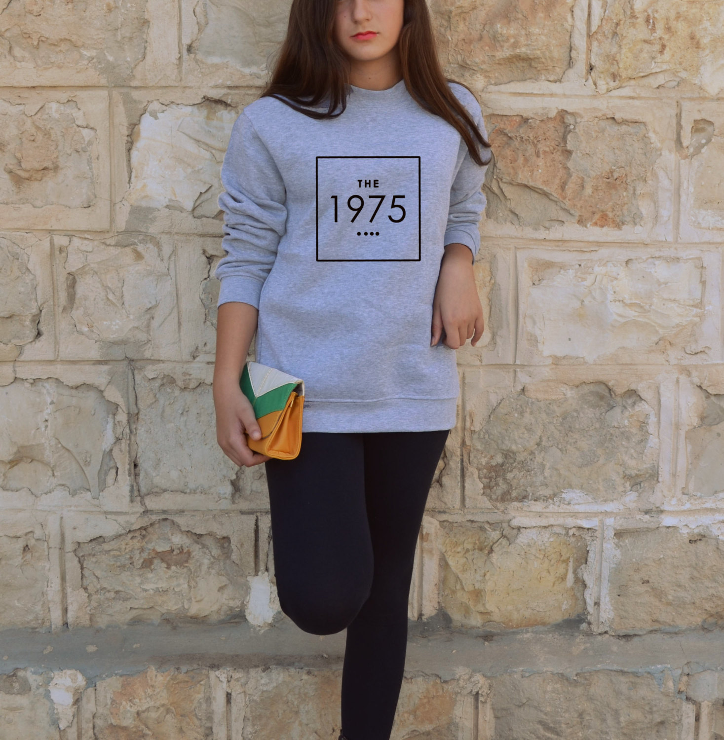 The 1975 sweatshirt in white or gray unisex jumper indie rock hipster the 1975 band sweater matt healy fans