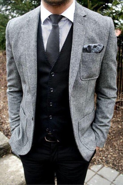 jacket men's suit grey mens suit formal
