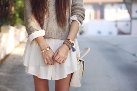jumper shirt dress beige long shirt blouse cream gray top long sleeves cardigan long sleeve shirt