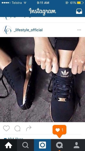 shoes adidas black gold