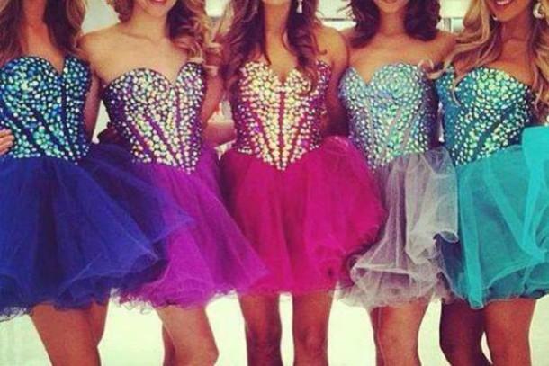 Dress Dark Blue Dress Turquoise Pink Dress Baby Blue Semi