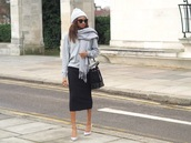 symphony of silk,blogger,hat,skirt,scarf,sweater,sunglasses,shoes,bag