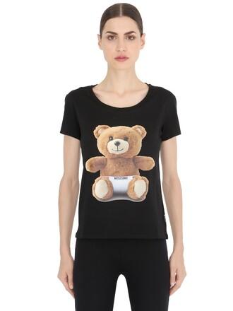 t-shirt shirt bear cotton black top