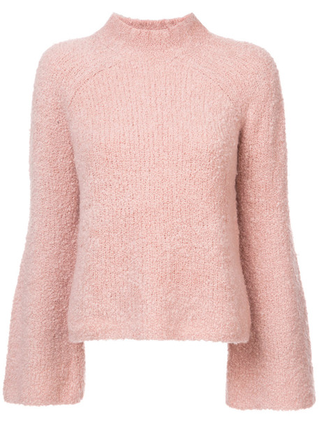 Ulla Johnson - Amina turtle neck jumper - women - Polyamide/Cashmere/Wool - M, Pink/Purple, Polyamide/Cashmere/Wool
