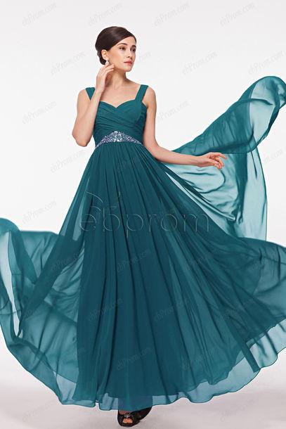 dress, petrol, flowing prom dresses, long prom dress, prom dress ...