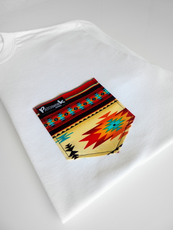 Aztec Sunset T-shirt Red Aztec Pocket T-shirt