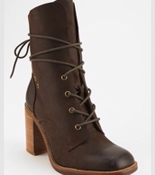 shoes,jeffrey campbell,heeled boot,leather,brown,laces,cute,boho,festival