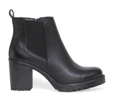 boots talon noir - Coloris : noir - Dessus : synthetique