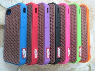 phone cover vans cute colorful iphone 4 case iphone vans of the wall love find it :)