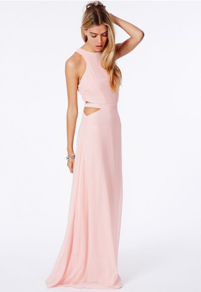 Anthea Cut Out Split Maxi Dress - Dresses - Maxi Dresses - Missguided