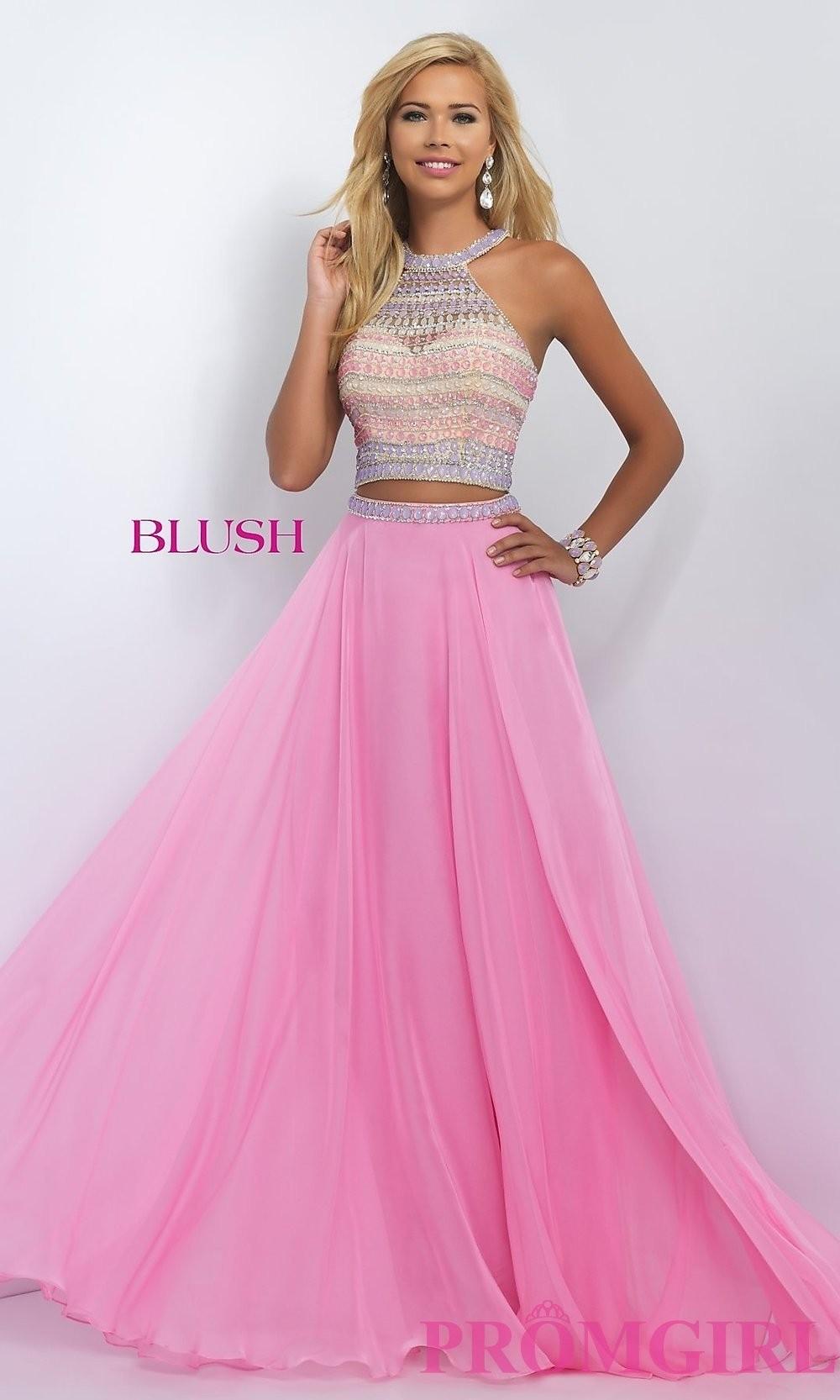 Piece Blush Long Prom Dress BL-11056 - Discount Evening Dresses ...