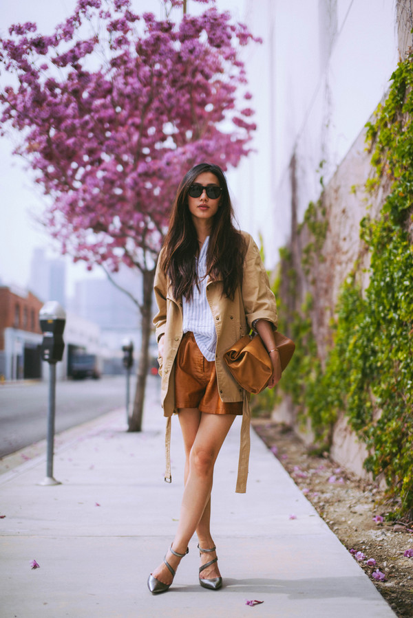 neon blush jacket shorts shoes jewels bag