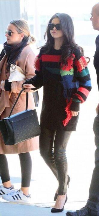 sweater selena gomez pumps pants fall sweater fall outfits