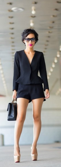 sunglasses shoes shorts jacket blazer suit
