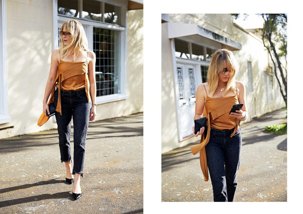 6f2ee1c77f brooke testoni blogger top jeans shoes sunglasses tank top silk top.
